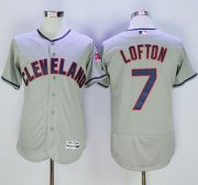 Wholesale Cheap Indians #7 Kenny Lofton Grey Flexbase Authentic Collection Stitched MLB Jersey