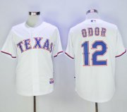 Wholesale Cheap Rangers #12 Rougned Odor White Cool Base Stitched MLB Jersey