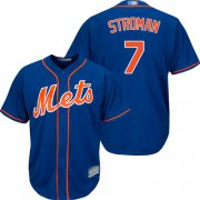 Wholesale Cheap Mets #7 Marcus Stroman Blue New Cool Base Stitched MLB Jersey