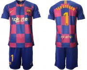 Wholesale Cheap Barcelona #1 Ter Stegen 20th Anniversary Edition Home Soccer Club Jersey