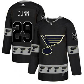 Wholesale Cheap Adidas Blues #29 Vince Dunn Black Authentic Team Logo Fashion Stitched NHL Jersey