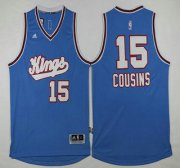 Wholesale Cheap Men's Sacramento Kings #15 DeMarcus Cousins Revolution 30 Swingman 2015-16 Blue Jersey