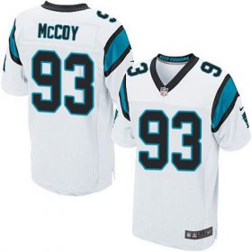 Wholesale Cheap Nike Panthers #93 Gerald McCoy White Men\'s Stitched NFL Elite Jersey