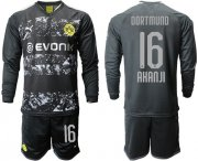 Wholesale Cheap Dortmund #16 Akanji Away Long Sleeves Soccer Club Jersey