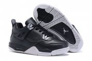 Wholesale Cheap Kid's Air Jordan 4 Shoes Black/gray