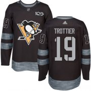 Wholesale Cheap Adidas Penguins #19 Bryan Trottier Black 1917-2017 100th Anniversary Stitched NHL Jersey