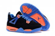 Wholesale Cheap Kid's Air Jordan 4 Shoes Black/blue-orange