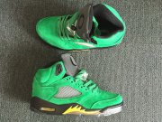 Wholesale Cheap Air Jordan 5 Oregon Ducks PE Green/Black-Yellow