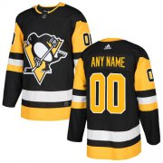 Wholesale Cheap Men's Adidas Penguins Personalized Authentic Black Home NHL Jersey