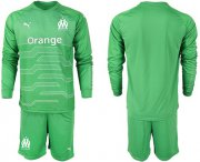 Wholesale Cheap Marseille Blank Green Goalkeeper Long Sleeves Soccer Club Jersey