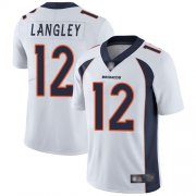 Wholesale Cheap Nike Broncos #12 Brendan Langley White Men's Stitched NFL Vapor Untouchable Limited Jersey