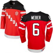 Wholesale Cheap Olympic CA. #6 Shea Weber Red 100th Anniversary Stitched NHL Jersey