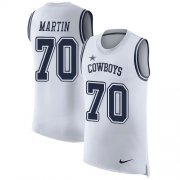 Wholesale Cheap Nike Cowboys #70 Zack Martin White Men's Stitched NFL Limited Rush Tank Top Jersey