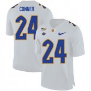 Wholesale Cheap Pittsburgh Panthers 24 James Conner White 150th Anniversary Patch Nike College Football Jersey
