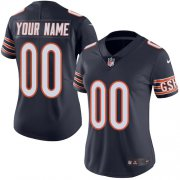 Wholesale Cheap Nike Chicago Bears Customized Navy Blue Team Color Stitched Vapor Untouchable Limited Women's NFL Jersey