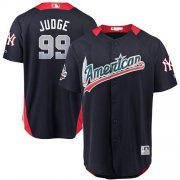 Wholesale Cheap Yankees #99 Aaron Judge Navy Blue 2018 All-Star American League Stitched MLB Jersey