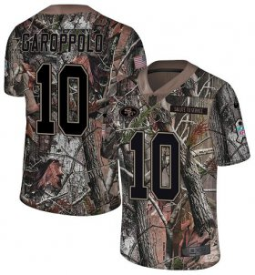Wholesale Cheap Nike 49ers #10 Jimmy Garoppolo Camo Men\'s Stitched NFL Limited Rush Realtree Jersey