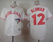Wholesale Cheap Blue Jays #12 Roberto Alomar White 2015 Canada Day Stitched MLB Jersey