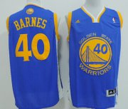 Wholesale Cheap Golden State Warriors #40 Harrison Barnes Revolution 30 Swingman Blue Jersey