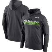 Wholesale Cheap Men's Seattle Seahawks Nike Sideline Circuit Anthracite Pullover Hoodie