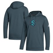Wholesale Cheap Seattle Kraken Adidas Primary Logo Fleece Pullover Hoodie Charcoal