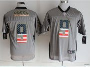 Wholesale Nike Saints #9 Drew Brees Grey Men's Stitched NFL Elite USA Flag Fashion Jersey