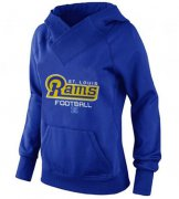 Wholesale Cheap Women's Los Angeles Rams Big & Tall Critical Victory Pullover Hoodie Blue