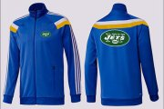 Wholesale Cheap NFL New York Jets Team Logo Jacket Blue_4