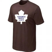 Wholesale Cheap Toronto Maple Leafs Big & Tall Logo Brown NHL T-Shirt