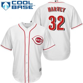 Wholesale Cheap Reds #32 Matt Harvey White Cool Base Stitched Youth MLB Jersey