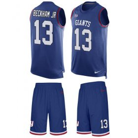 Wholesale Cheap Nike Giants #13 Odell Beckham Jr Royal Blue Team Color Men\'s Stitched NFL Limited Tank Top Suit Jersey