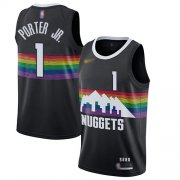 Wholesale Cheap Nuggets #1 Michael Porter Jr. Black Basketball Swingman City Edition 2019-20 Jersey