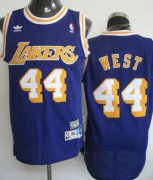Wholesale Cheap Los Angeles Lakers #44 Jerry West Purple Swingman Throwback Jersey