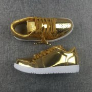 Wholesale Cheap Air Jordan 1 Low Pinnacle Metallic gold/White