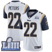 Wholesale Cheap Nike Rams #22 Marcus Peters White Super Bowl LIII Bound Men's Stitched NFL Vapor Untouchable Limited Jersey