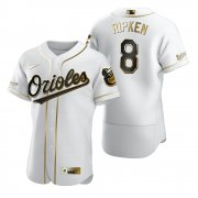 Wholesale Cheap Baltimore Orioles #8 Cal Ripken Jr White Nike Men's Authentic Golden Edition MLB Jersey