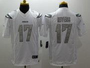 Wholesale Cheap Nike Chargers #17 Philip Rivers White Men's Stitched NFL Limited Platinum Jersey