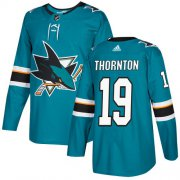 Wholesale Cheap Adidas Sharks #19 Joe Thornton Teal Home Authentic Stitched Youth NHL Jersey