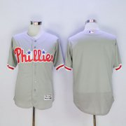 Wholesale Cheap Phillies Blank Grey Flexbase Authentic Collection Stitched MLB Jersey