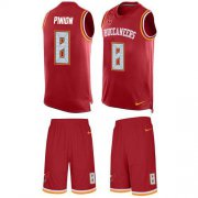 Wholesale Cheap Nike Buccaneers #8 Bradley Pinion Red Team Color Men's Stitched NFL Limited Tank Top Suit Jersey