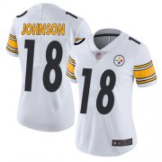 Wholesale Cheap Nike Steelers #18 Diontae Johnson White Women's Stitched NFL Vapor Untouchable Limited Jersey