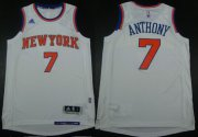 Wholesale Cheap New York Knicks #7 Carmelo Anthony Revolution 30 Swingman 2014 New White Jersey