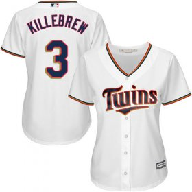 Wholesale Cheap Twins #3 Harmon Killebrew White Home Women\'s Stitched MLB Jersey