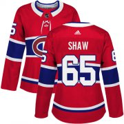 Wholesale Cheap Adidas Canadiens #65 Andrew Shaw Red Home Authentic Women's Stitched NHL Jersey