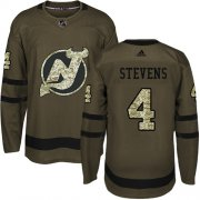 Wholesale Cheap Adidas Devils #4 Scott Stevens Green Salute to Service Stitched NHL Jersey