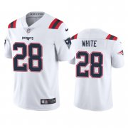 Wholesale Cheap New England Patriots #28 James White Men's Nike White 2020 Vapor Limited Jersey