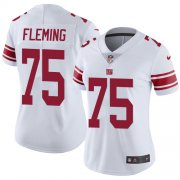 Wholesale Cheap Nike Giants #75 Cameron Fleming White Women's Stitched NFL Vapor Untouchable Limited Jersey
