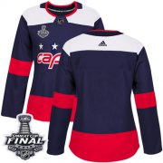 Wholesale Cheap Adidas Capitals Blank Navy Authentic 2018 Stadium Series Stanley Cup Final Champions Women's Stitched NHL Jersey