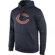 Wholesale Cheap Chicago Bears Nike Practice Performance Pullover Hoodie Navy