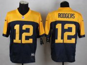 Wholesale Nike Packers #12 Aaron Rodgers Navy Blue Alternate Men's Stitched NFL New Elite Jersey